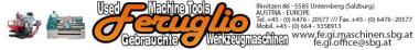 Feruglio Gino  Gebrauchte Werkzeugmaschinen