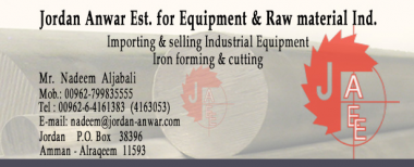 Jordan Anwar EST for Equipment & Raw Materials