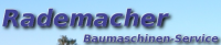 Logotip Rademacher Baumaschinen Service