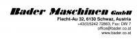 Logo Bader Maschinen GmbH