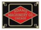 Logotipas Adams Machinery Co