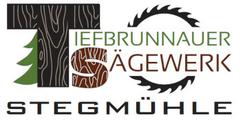 ロゴマーク Tiefbunnauer Sägewerk Stegmühle in Faistenau