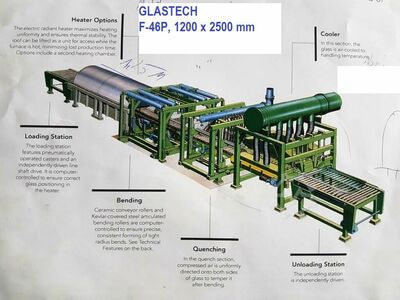 Glasstech F-46P, 1200 x 2500 mm