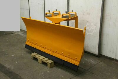 Snow plow with fork mount
