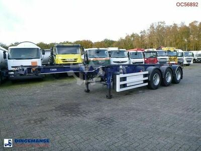 Sdc 3 axle container trailer 20 30 ft pump