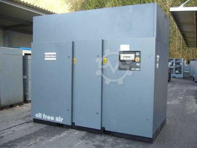 Rotary screw air compressor oil-free