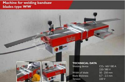 MACHINE FOR WELDING BANDSAW BLADES