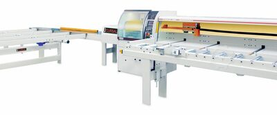 Push feed optimizing crosscut saw