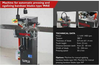 MACHINE FOR AUTO. PRESSING AND EGALIZING