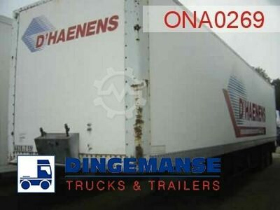 Fruehauf 2 axle closed box trailer 81.2 m3