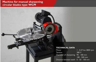 MACHINE FOR MANUAL SHARPENING CIRCULAR B