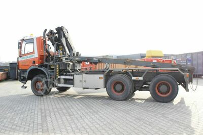 Container car with crane