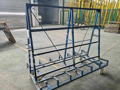 Trolleys for transport of insulated glas