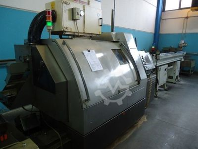Sliding head Cnc lathe