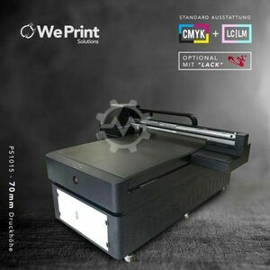 UV LED Drucker  CMYK LCLM+W 100x150 70mm