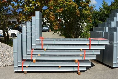 Cantilever rack used Length: 4000 mm