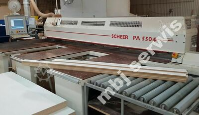SCHEER panel saw PA5504 loading