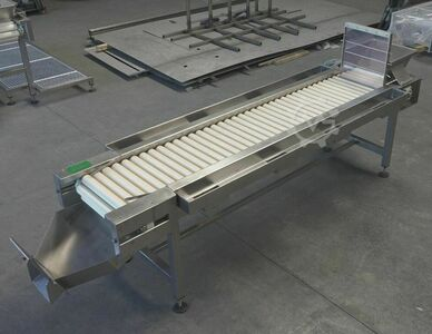 Roller inspection table, 250cm, used