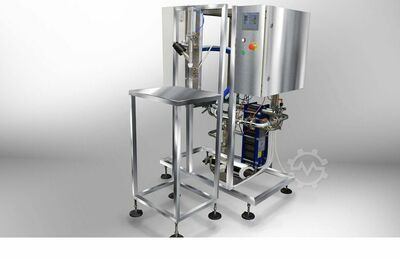 Pasteurizer with Filling machine