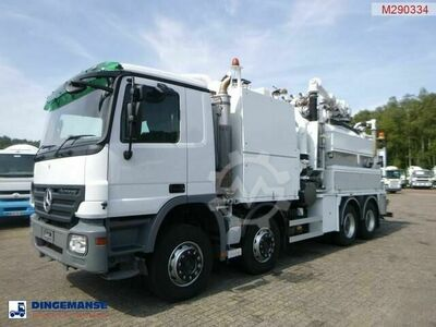 Mercedes-Benz Actros 3241 8x4 RHD Huwer vacuum tank / hydrocure