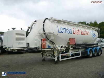 Feldbinder Vacuum powder tank alu 49 m3 engine/compressor