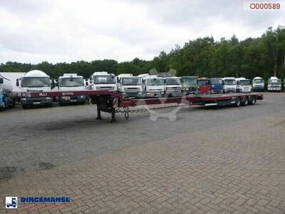 Nooteboom 3 axle semi lowbed trailer extendable 14.5 m ram