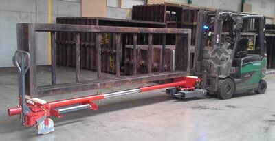 Long material trailers, industrial trailers