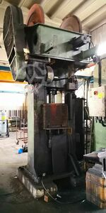 Friction screw press for hot forging