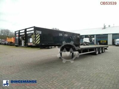 Sdc 3 axle semi lowbed container trailer 10 20 30 ft