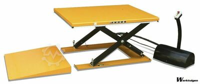 Huto Low profile lift table 2000kg, size 1600x12