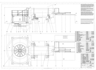 Gas fired rotary drum-melting furnace