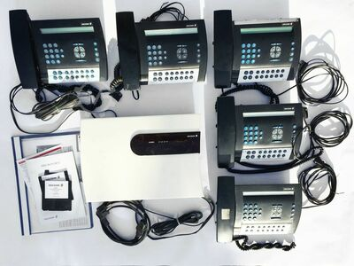 Complete telephone system with 5 telephones
