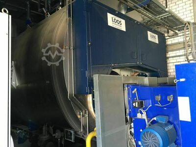 Double flame tube boiler with economiser