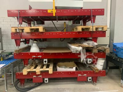 Conveyors with control box and motors