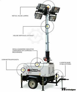 Trime X-Start Mobile Light Tower ปล่อยก๊าซ