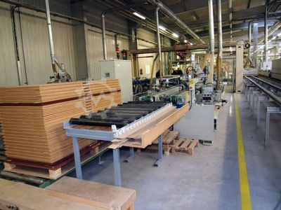 drilling and milling line for doors