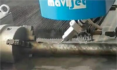 pipe cutting machine with waterjet