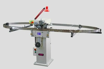 Band Saw Swaging and Shaping Machine