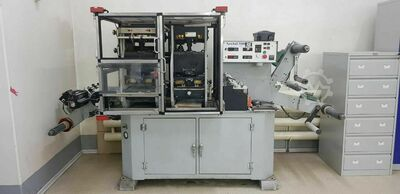 Hot foil stamping machine for labels