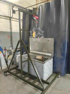 paint stripping basin indirect heating