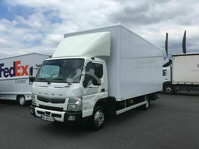 Fuso Canter 7C18 AMT Junge Koffer mit Ladebordwand
