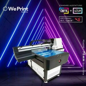 Impresora digital plana UV 6090 70mm