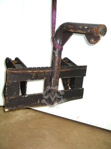 fork carriage with load hook for wheeled loader AT