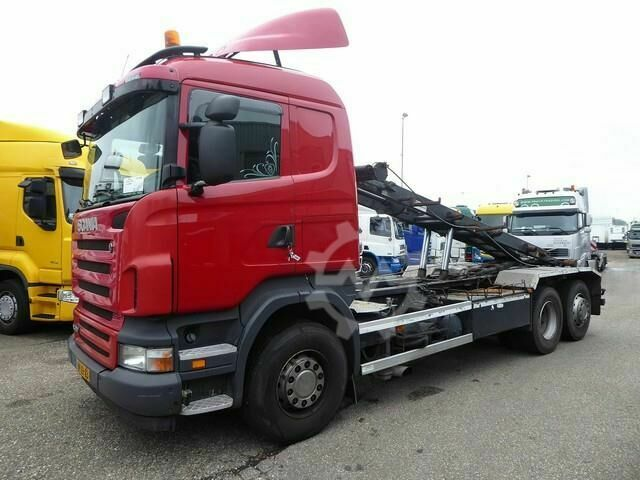 Scania R 380 B 6X2,Kabel, abroll,cable 25 Ton systeem , E