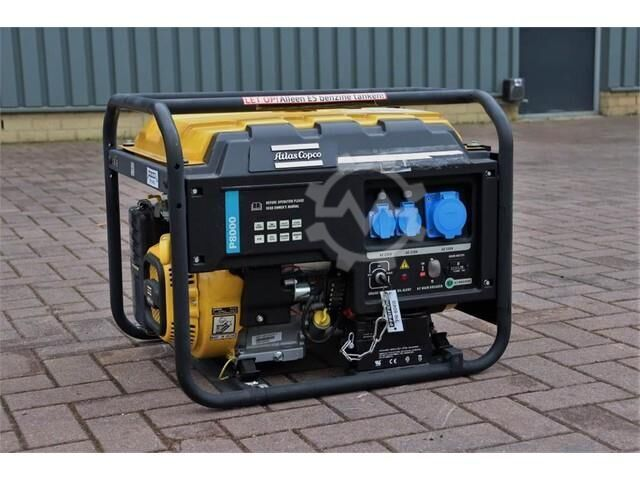 Atlas Copco P8000 Valid inspection, *Guarantee! Gasoline, 6.5
