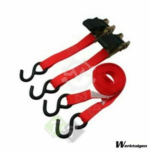 Trailer And Tools Spanband, 3.5mtr x 2,5cm, Sjorband, 2 dlg, 300KG
