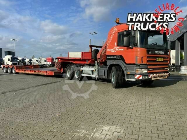 Scania 114 380 6x4 crane and nooteboom