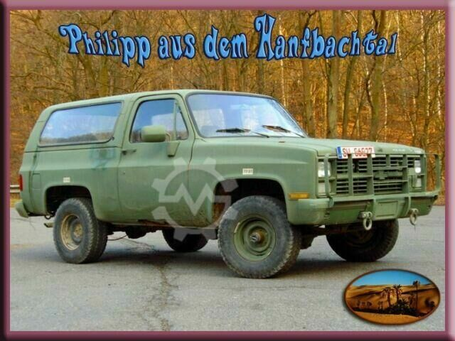 Chevrolet Chevy M1009 US Army 4x4 Utility Truck Hardtop