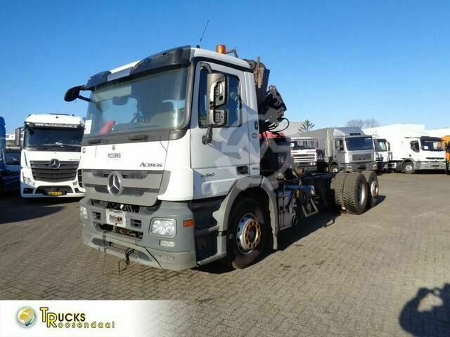 Mercedes-Benz Actros 2541 Euro 5 Hiab Space 4000 engine brok