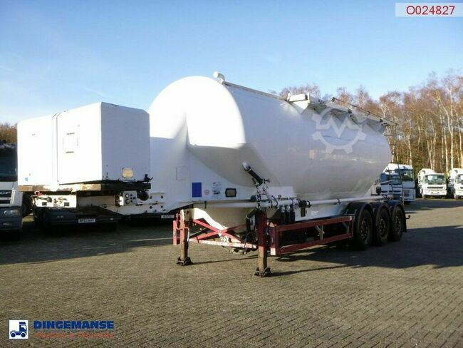 Feldbinder Powder tank alu 40 m3 / 1 comp + engine/compressor